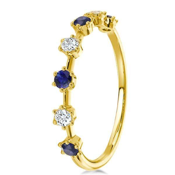 White Sapphire Engagement Rings Yellow Gold