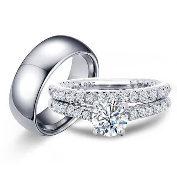 Vintage Wedding Ring Sets