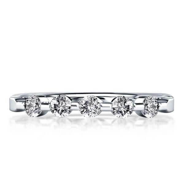ALTERNATIVE WEDDING RINGS: FIVE STONE WEDDING BAND