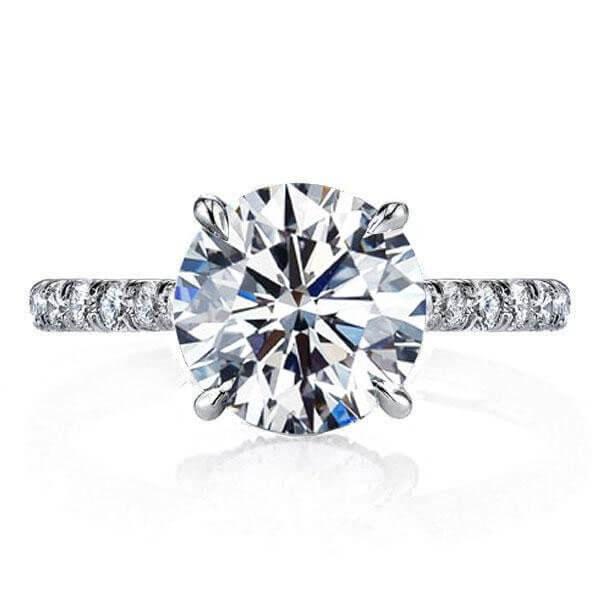 f47477ed53504 Italo Classic Half Eternity Created White Sapphire Engagement Ring