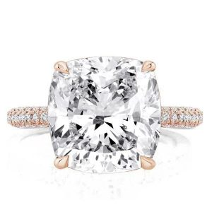 cushion cut engagement rings